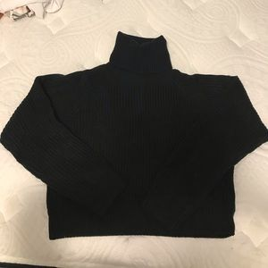 Turtle Neck Cropped Sweater (Never Worn) Medium